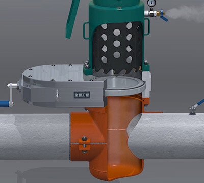 Cylinder Type Hot Tapping And Line Stopping Under Pressure